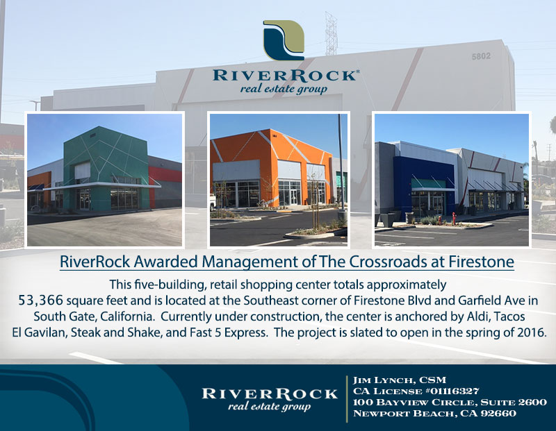 RiverRock Awarded Management of The Crossroads at Firestone