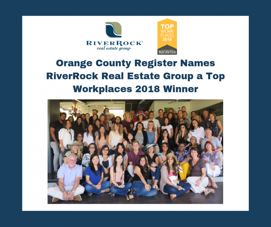 Orange County Register Names RiverRock Real Estate Group a Top Workplaces 2018 Winner