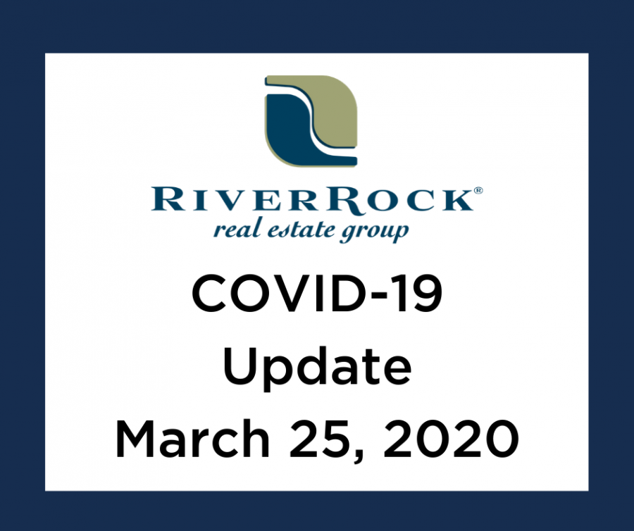 Update from RiverRock Real Estate Group – COVID-19